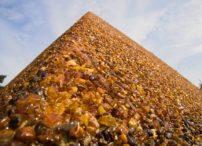 Village Yantarniy (Palmniken) - Amber Pyramid at the State Amber Mine (Quarry)